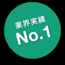 業界実績 No.1