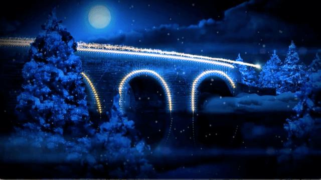 ライトアップする橋