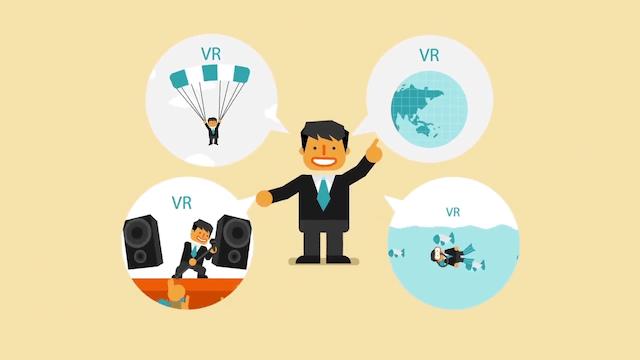VRの4つの利用シーン例