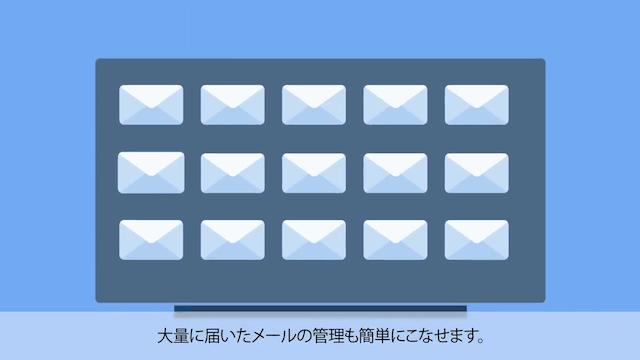 大量に届いたメール