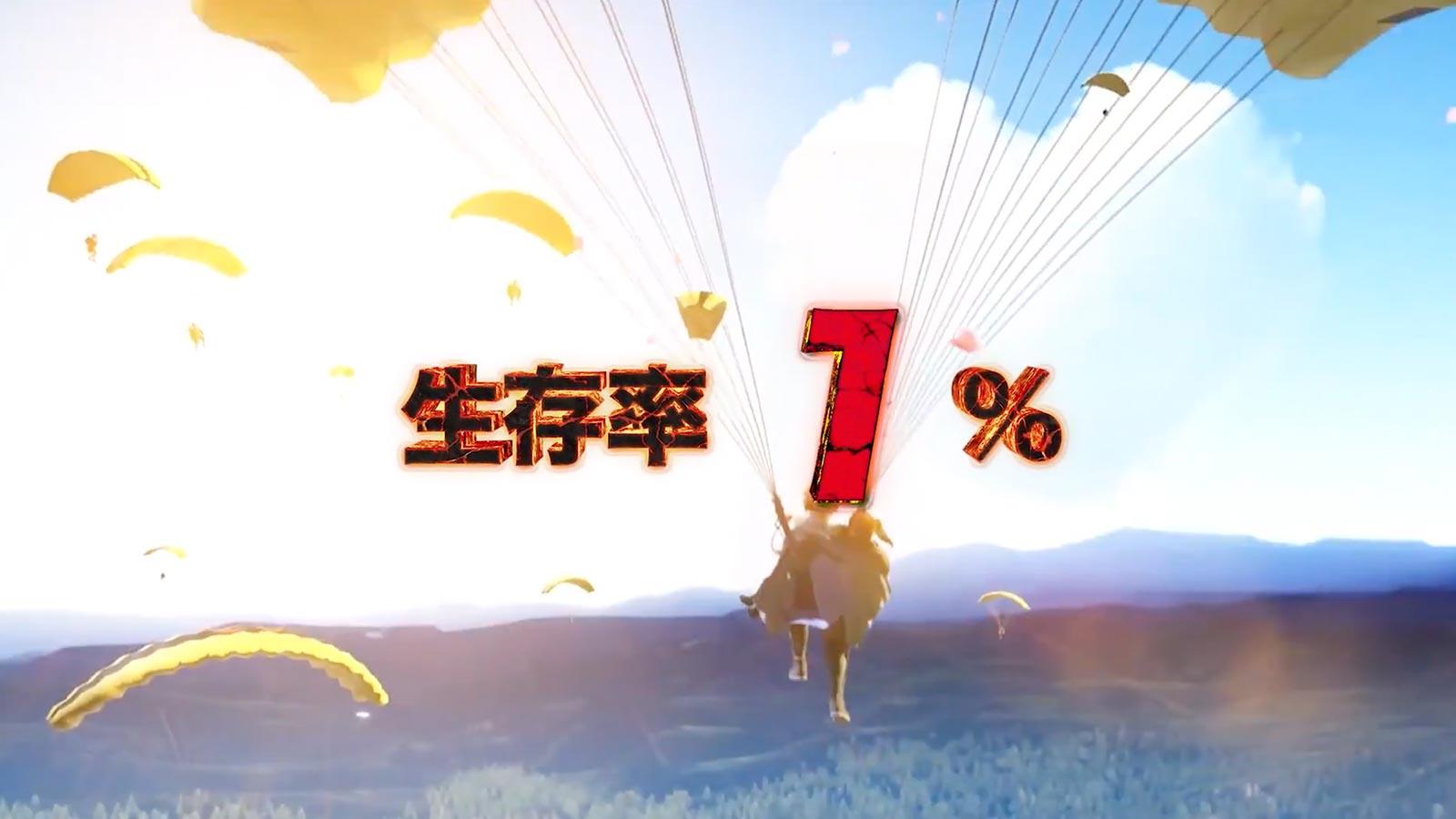 生存率1%