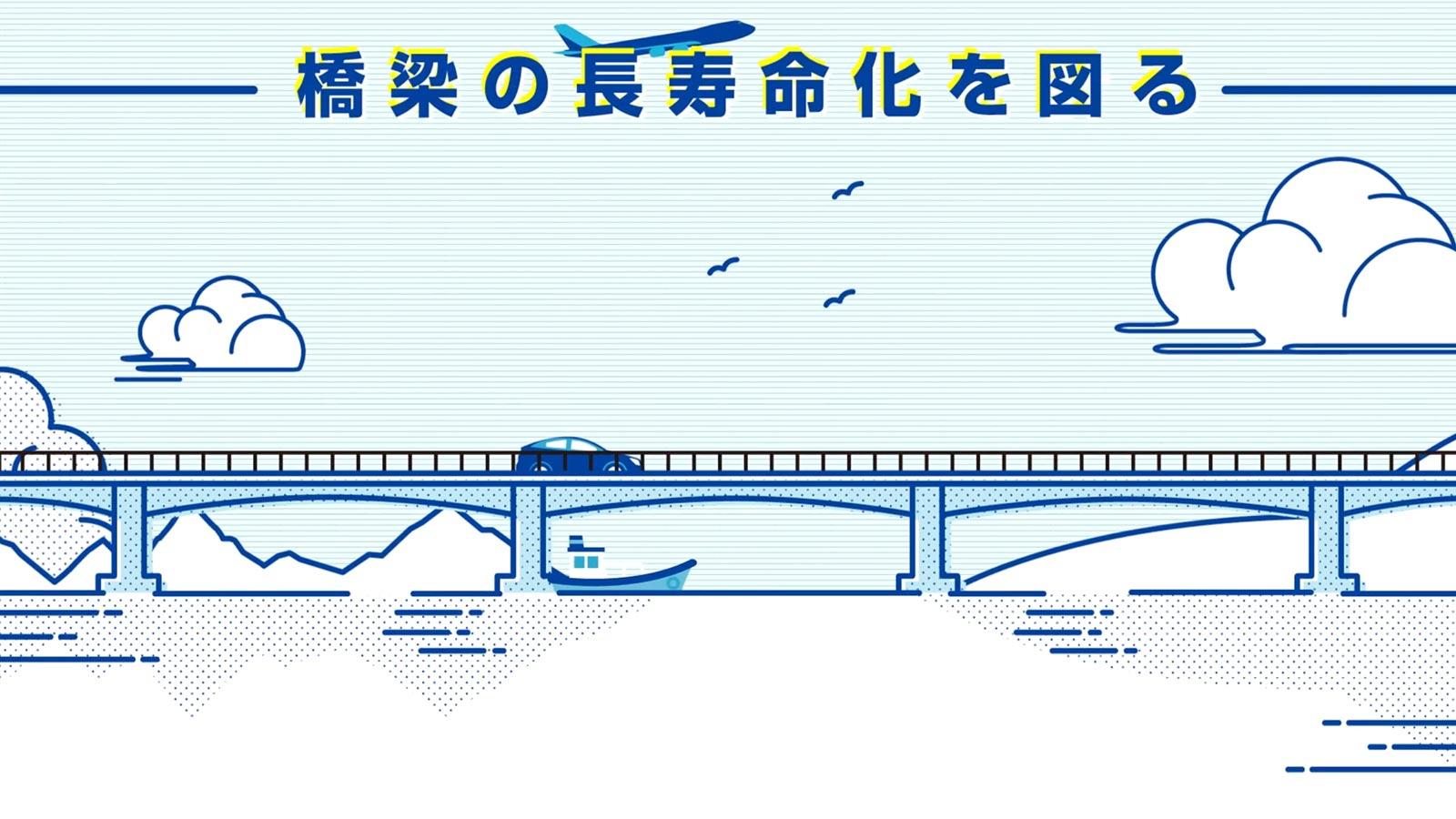 橋梁の長寿命化を図る