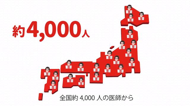 全国約4,000人の医師